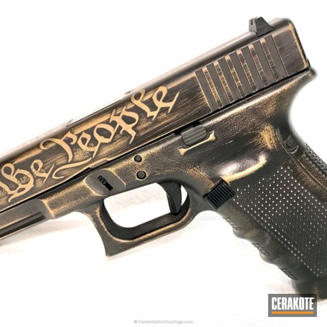 "Thumbnail image for project ""Glock 19 Handgun in H-148 Burnt Bronze and HIR-146 Gen II Graphite Black"""