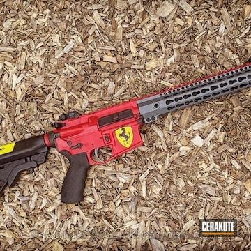 Cerakoted Rifle Coated In A Custom Ferrari Car Theme