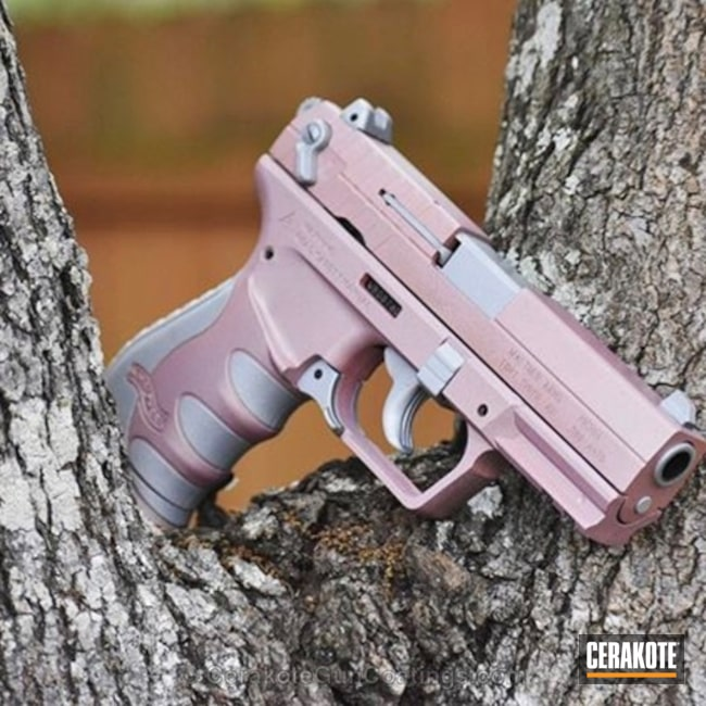 Wlather Handgun in H-255 Crushed Silver