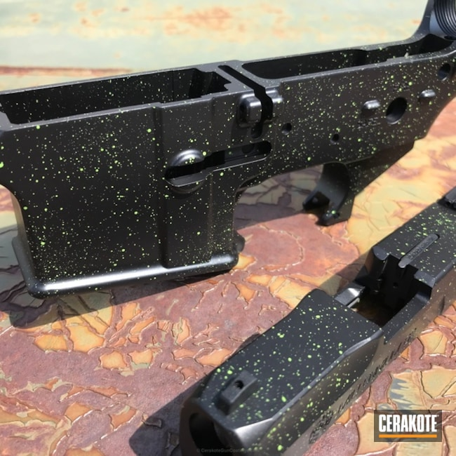 Matching Lower Receiver and Slide in a Splatter Finish