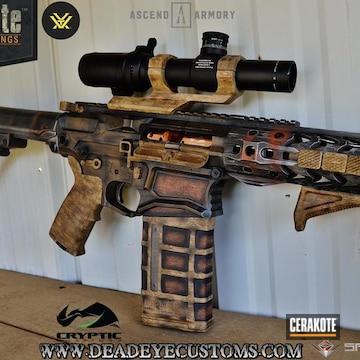 Cerakoted Custom Tactical Rifle In A Cerakote Woodgrain Finish