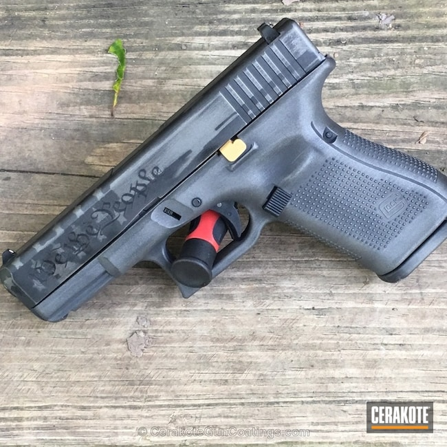 Glock Handgun in a Custom Cerakote Finish