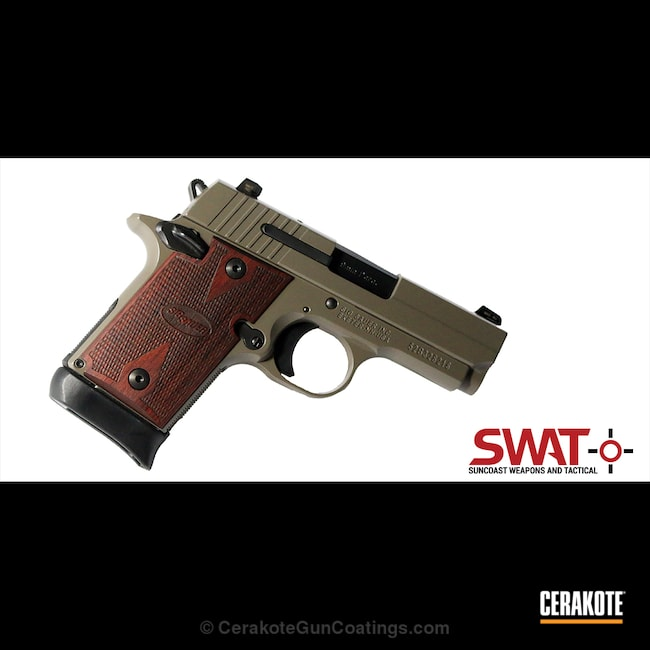 "Thumbnail image for project ""Sig Sauer Handgun coated in a E-130 Earth Finish"""