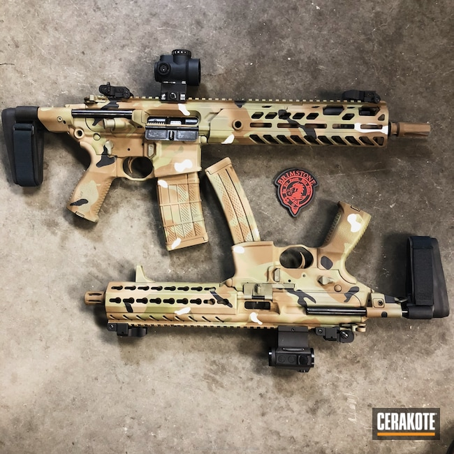 Matching Sig Sauer SBR / SMG in a Custom MultiCam Finish