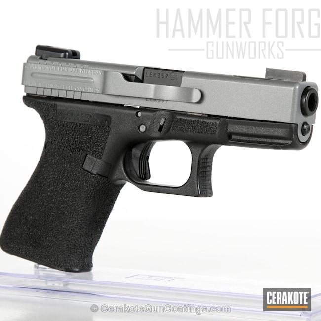 Cerakoted: Custom Mix,Glock 19,Cerakote Elite Series,Pistol,Satin Aluminum H-151,Glock,Elite Titanium,Concrete E-160,Concrete E-160G,Handguns