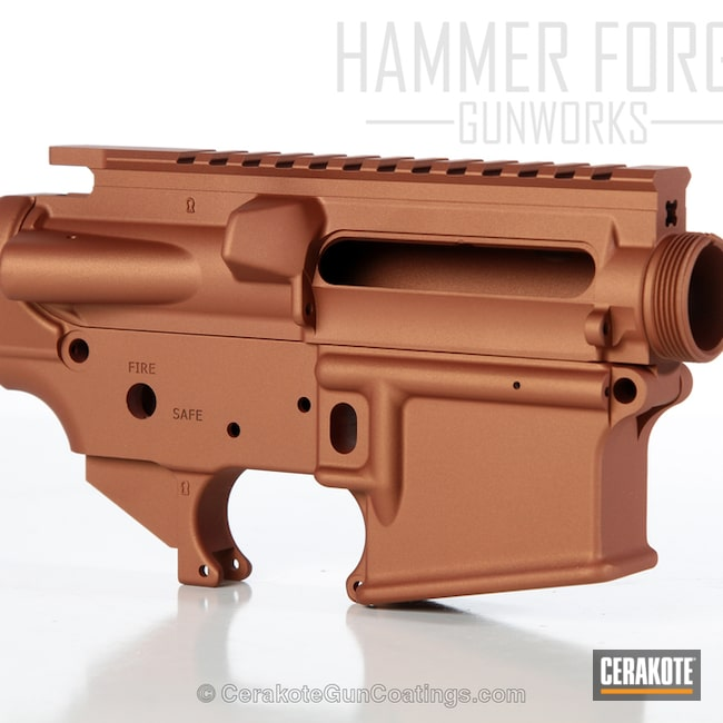 Upper / Lower Receiver in a Custom Burnt Orange Color