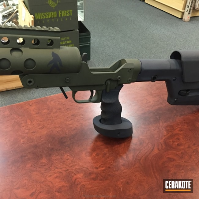 50 BMG Rifle coated in MagPul Stealth Grey and MagPul O.D. Green