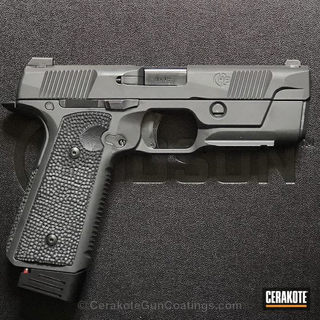 "Thumbnail image for project ""Hudson H9 Handgun in Cerakote Elite E-120 Smoke"""