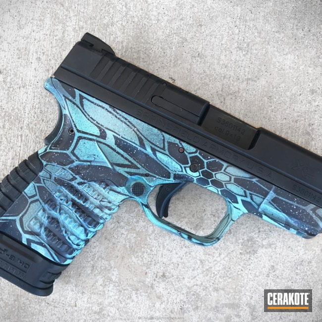 Springfield XDS in a Kryptek Pontus Finish