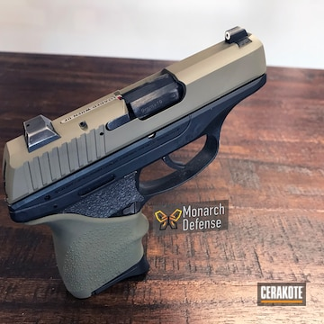 Cerakoted Ruger Lc9 Handgun In H-231 Magpul Foliage Green