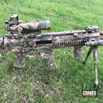 Cerakoted Bushmaster Acr Rifle In A Custom Cerakote Multicam Finish