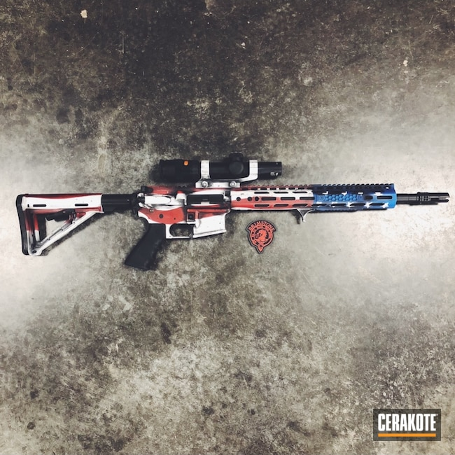 "Thumbnail image for project ""Custom American Flag Themed Rifle Finish"""