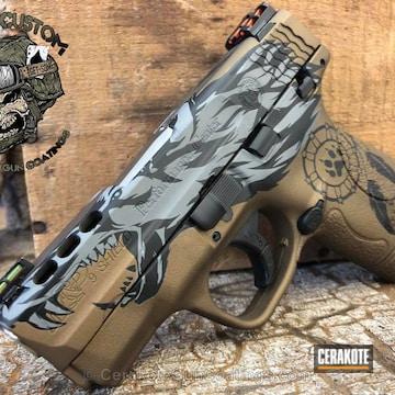 Cerakoted Smith & Wesson Handgun In A Custom Cerakote Werewolf Finish