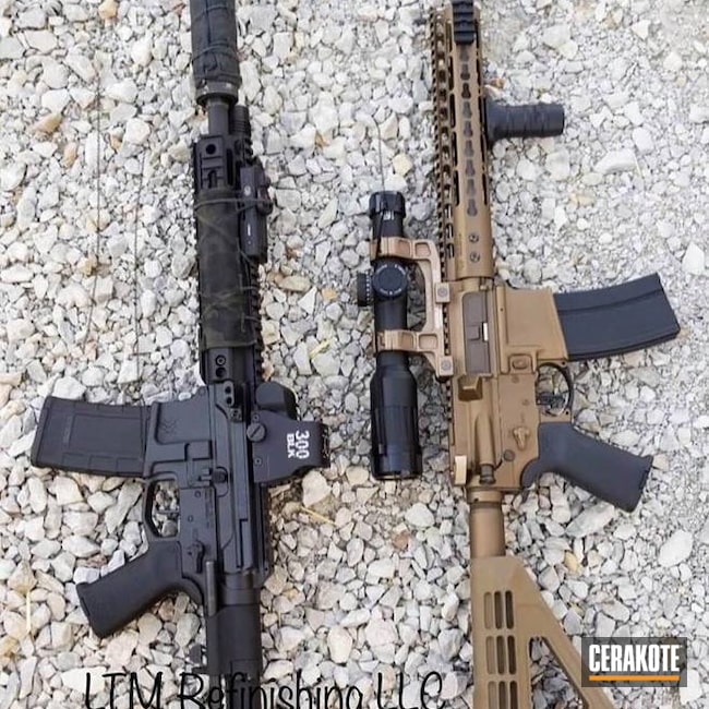 AR-15 Rifles in H-146 Graphite Black and H-148 Burnt Bronze