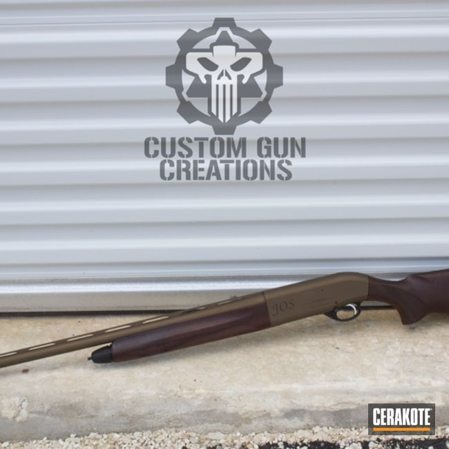 Beretta Shotgun in Cerakote H-294 Midnight Bronze