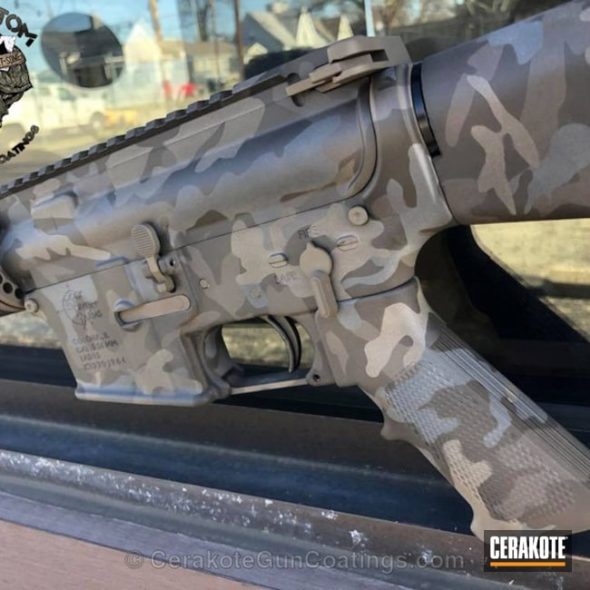 Tactical Rifle in a Custom Black MultiCam Finish