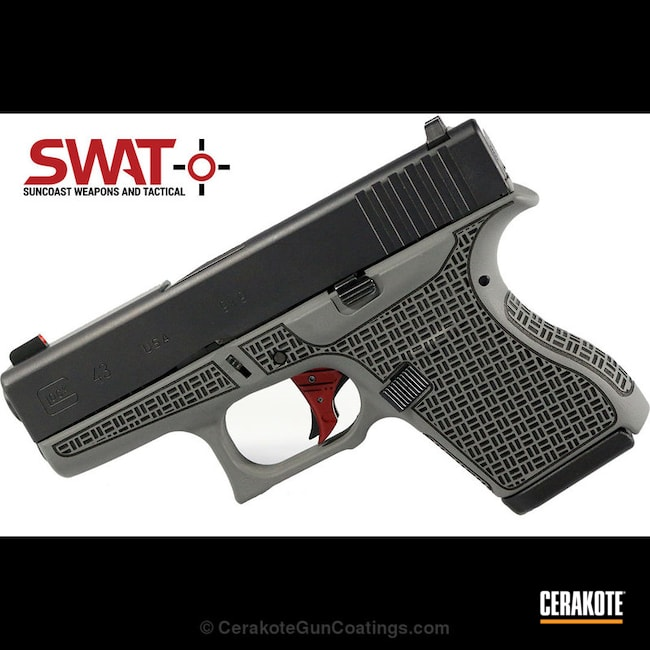 "Thumbnail image for project ""Glock 43 Handgun in H-214 Smith & Wesson Grey and H-146 Graphite Black"""