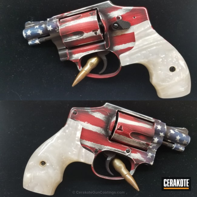 American Flag Themed S&W 642 Revolver