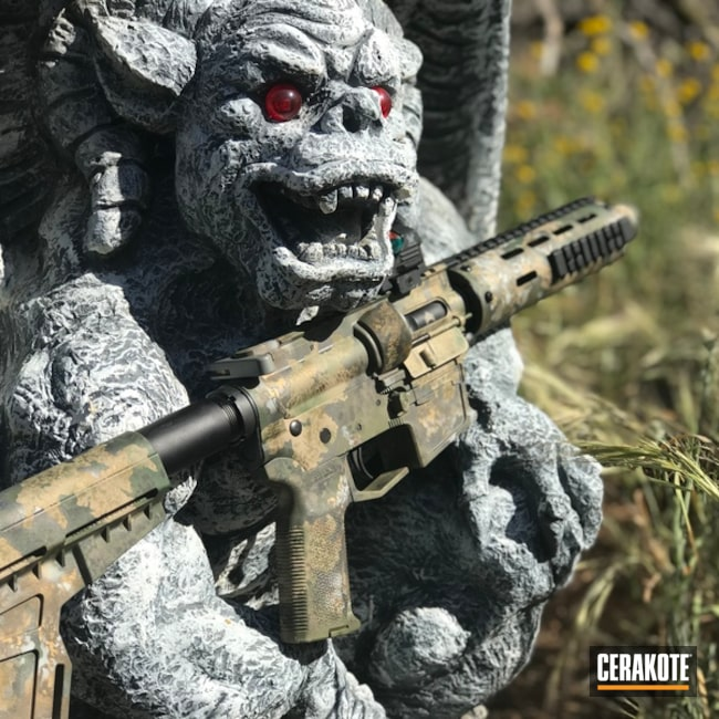 AR-15 in a Custom Cerakote Camo Finish