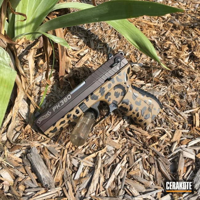 "Thumbnail image for project ""Walther Handgun in a Cheetah Print Cerakote Finish"""