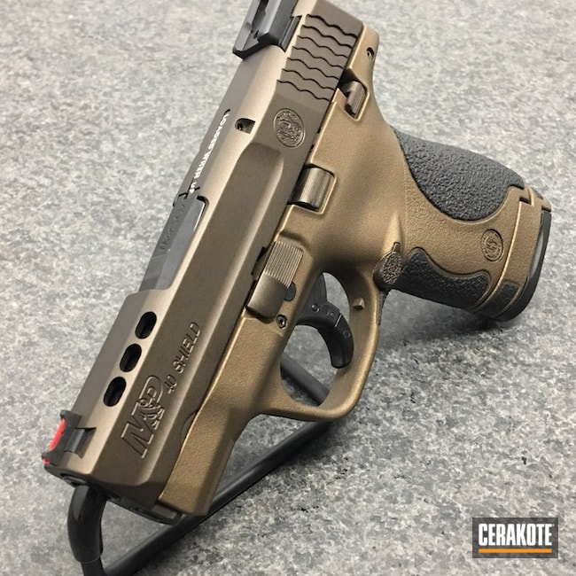 Smith & Wesson M&P Shield in Graphite Black, Midnight Bronze and Burnt Bronze