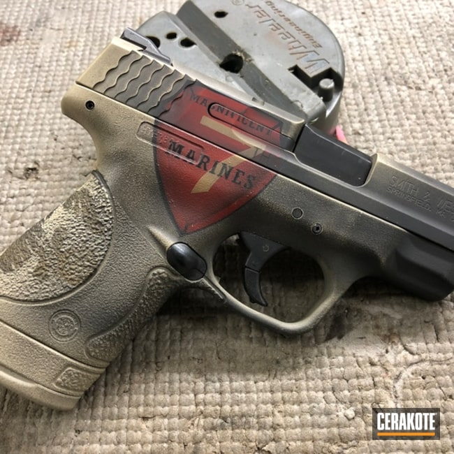 Smith & Wesson M&P Handgun in a USMC Themed Finish