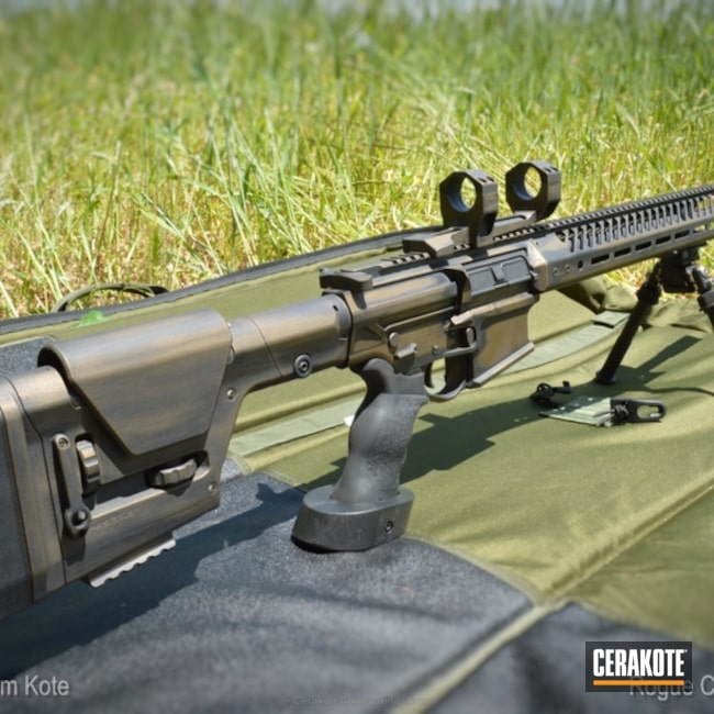 AR 308 Rifle in H-148 Burnt Bronze and H-190 Armor Black