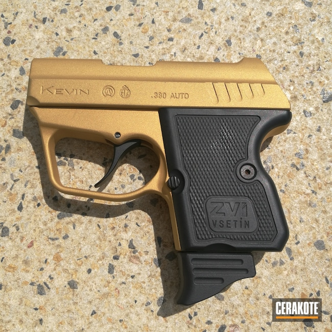 Handgun in H-146 Graphite Black, H-122 Gold and C-102 Graphite Black