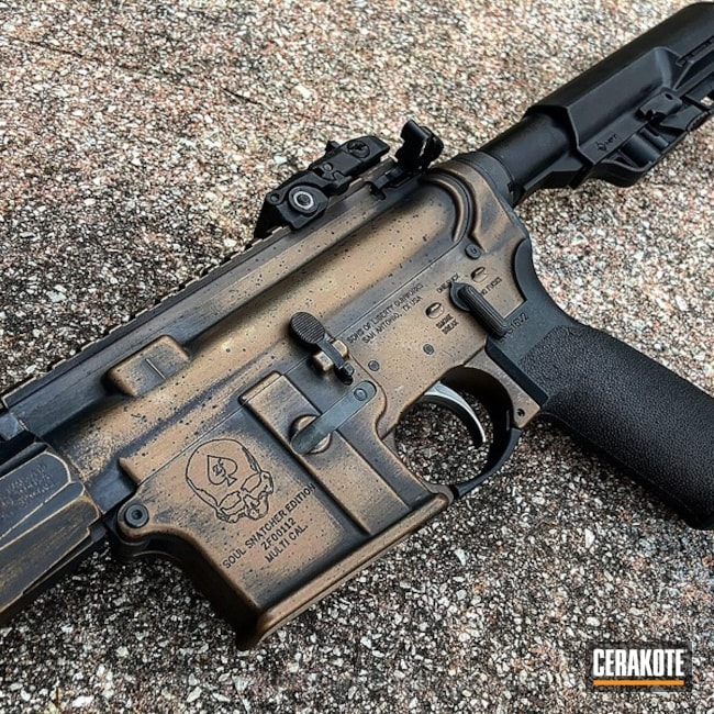 Tactical Rifle in H-146 Graphite Black, H-148 Burnt Bronze and H-167 USMC Red