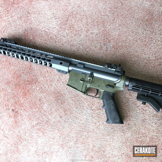 Colt Ar-15 done in H-234 Sniper Grey and H-240 Mil Spec O.D. Green