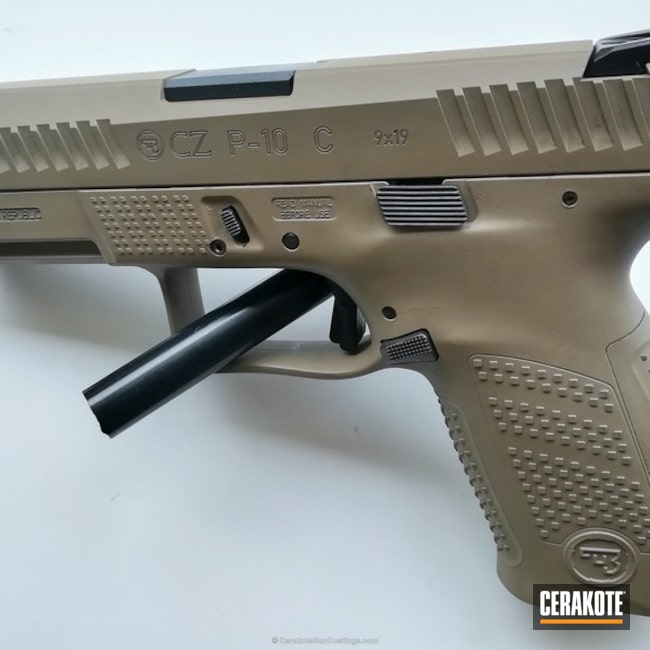 "Thumbnail image for project ""CZ 75 Handgun in Cerakote H-265 Flat Dark Earth"""