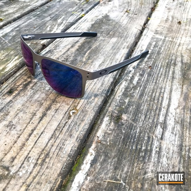 Oakley Holbrook Sunglasses coated in H-146 Graphite Black and H-170 Titanium