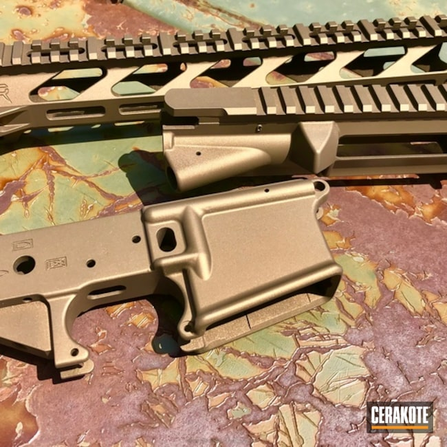 Upper / Lower / Handguard coated in H-148 Burnt Bronze
