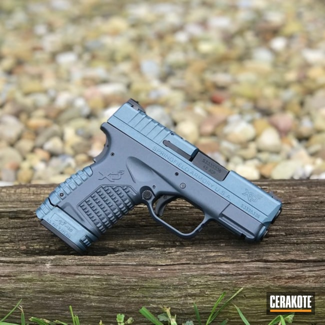 Springfield XDS-45 Handgun in H-158 Blue Titanium and H-295 Cobalt Kinetics