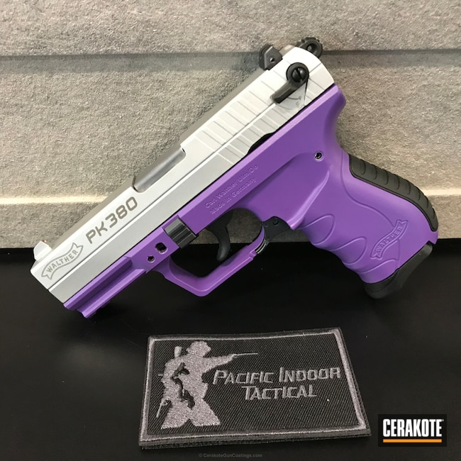 Walther PK 380 Frame coated in Cerakote H-217 Bright Purple