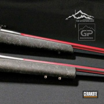 Cerakoted Fluted Barrels With H-146 Graphite Black And H-216 Smith & Wesson Red