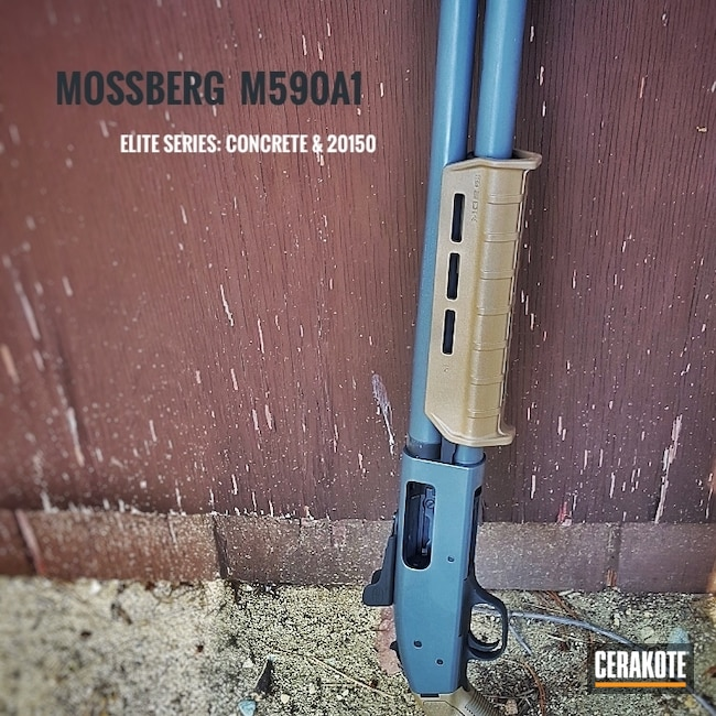 Mossberg Shotgun with H-213 Battleship Grey and E-190 20150