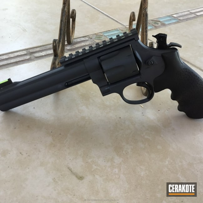 Smith & Wesson Revolver with H-234 Sniper Grey and H-190 Armor Black
