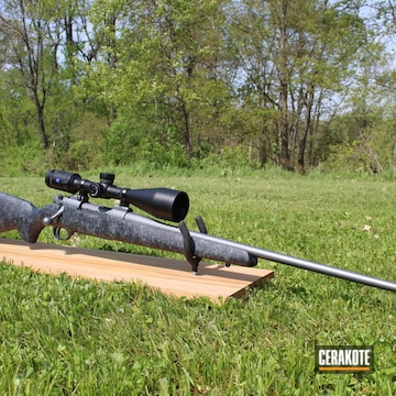 Cerakoted H-227 Tactical Grey On Markv Weatherby