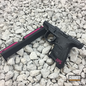 Cerakoted Pistol Slide With Sig Pink, Prison Pink And Armor Black