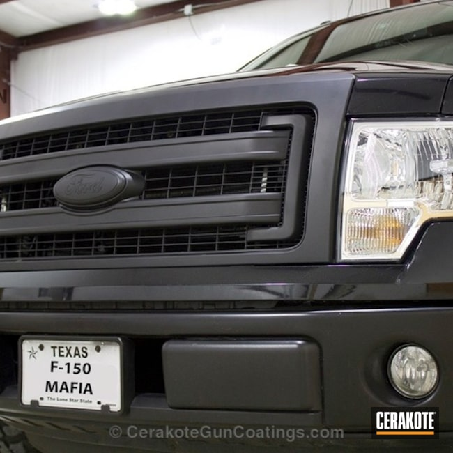 Ford Emblem in H-146 Graphite Black
