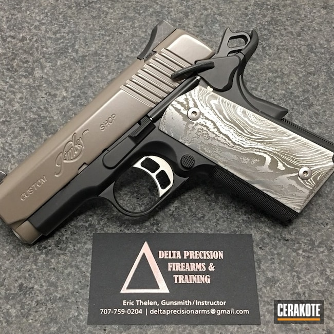 Kimber Pistol with Cerakote Graphite Black and Elite Earth