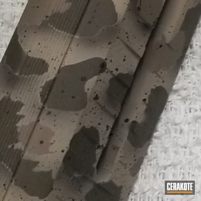 Pistol Slide coated in a Custom Cerakote Camo Finish