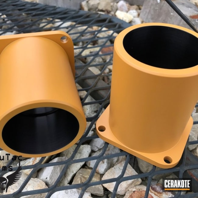 Miscellaneous Parts coated in Cerakote H-246 Desert Gold