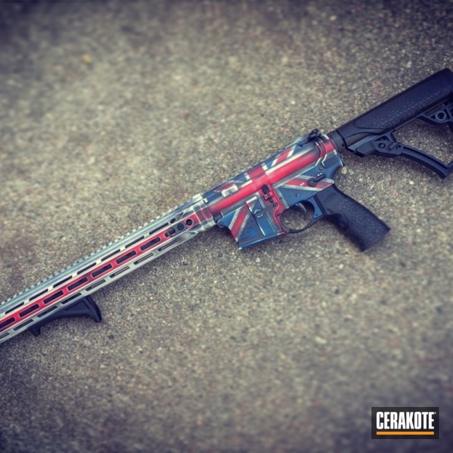 Daniel Defense Rifle in a Battleworn UK Flag Finish