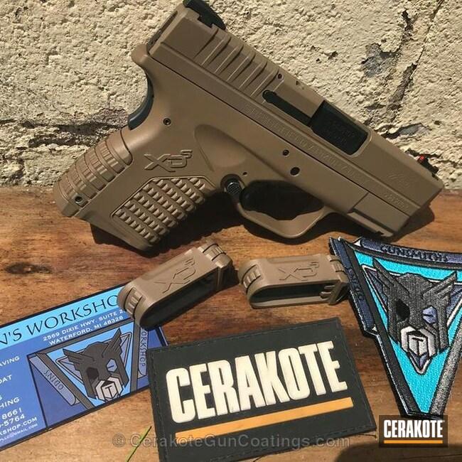 Cerakoted: 9mm,MAGPUL® FLAT DARK EARTH H-267,MagPul,Springfield XDS-9,Springfield XD-9,Pistol,Springfield XDS,EDC,XDS
