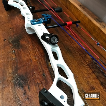 Cerakoted Cerakoted Compound Bow In H-140 Bright White