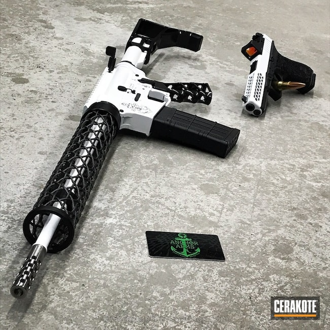 "Thumbnail image for project ""Tow Toned Rifle in H-109 Gloss Black and H-140 Bright White"""