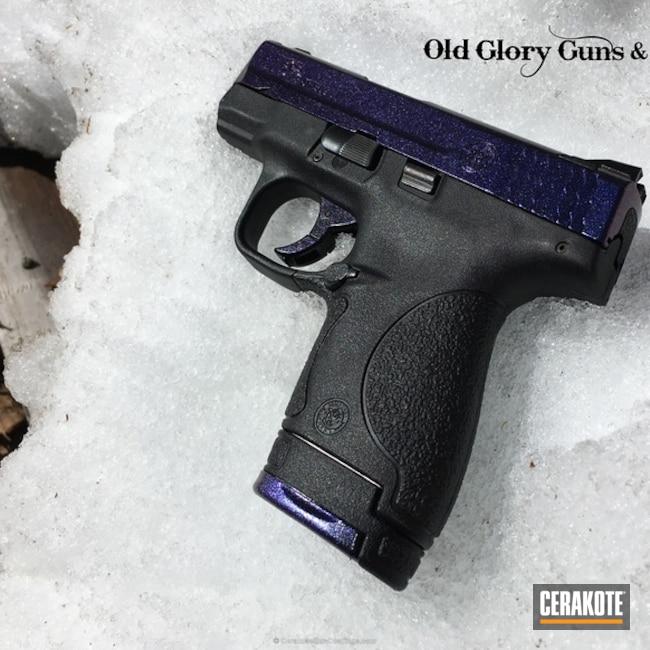 Cerakoted: Custom Color,Graphite Black H-146,Smith & Wesson,Pistol,GunCandy,M&P Shield,Color Shift