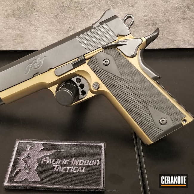 Kimber 1911 in Graphite Black and Burnt Bronze